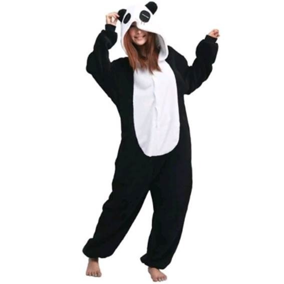 Pijama Panda Moda Mameluco Oso Kigurumi Envío Gratis