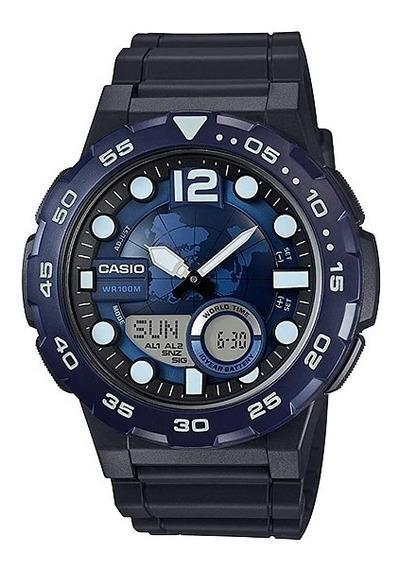 Relógio Original Casio Aeq-100w-2avdf