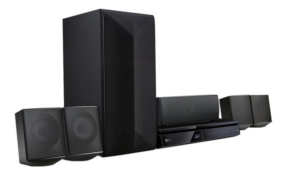 Home Theater Lg Com Dvd E Blu-ray 3d Full Hd Lhb625m 5.1