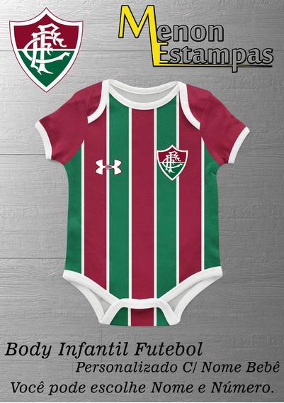 Body Bebê Fluminense Futebol Infantil Personalizado C/ Nome