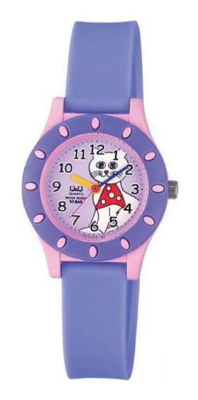 Relógio Q&q Infantil Feminino Gatinha Prova D
