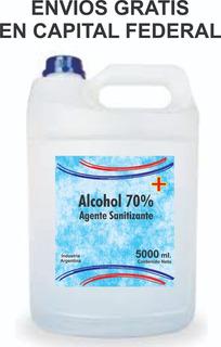 Alcohol 70% Sanitizante Líquido Bidón 5 Litros
