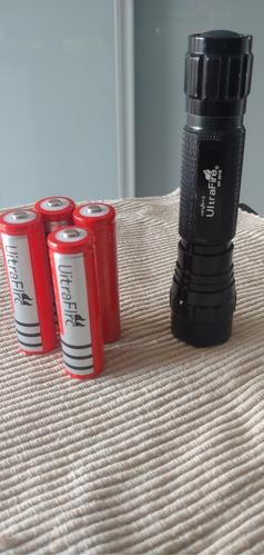 Lanterna Ultrafire 501b Original ,led Verde, Caça, Baterias.