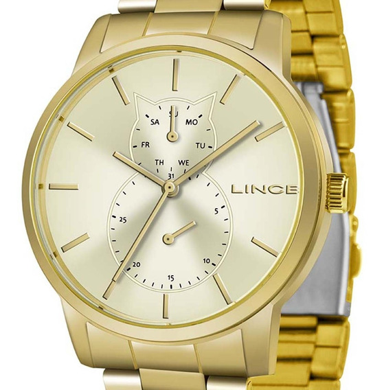Relógio Lince Multifunção Feminino Lmgj086l C1kx + N. Fiscal