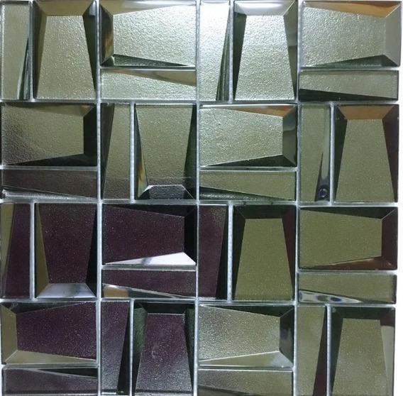 Mosaico Malla Decorativa 100% Cristal Plateada