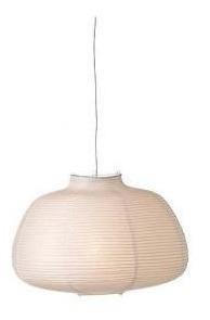 Cúpula Para Pendente Em Papel De Arroz 45xh30cm Branco Llum