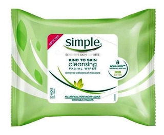 Simple Cleansing Facial Wipes Lenços Demaquilantes