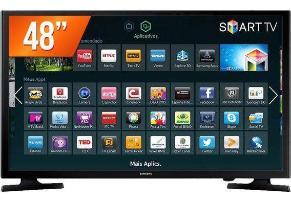 Smart Tv Wi-fi Led 48 Samsung Un48j5200- De Mostruário