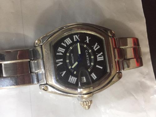 Cartier Roadster Black Dial Large Steel Mens Watch W62041v3