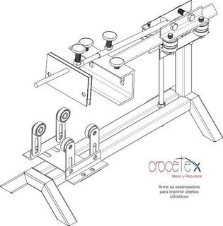 Kit Planos Construye Fabrica Maquina Serigrafía Cilíndrica