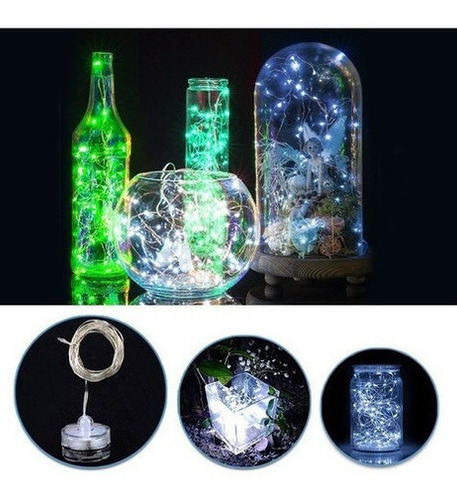 Luces Micro Led Impermeables Sumergibles X30 Led Blanca