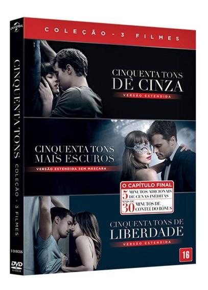 Box Dvd Coleção Cinquenta Tons De Cinza - Original (lacrado)