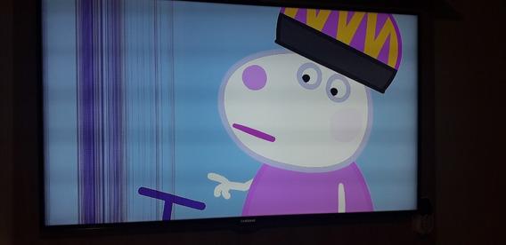 Tv Samsung Un46es7000g 3d / Com Linhas Na Tela.