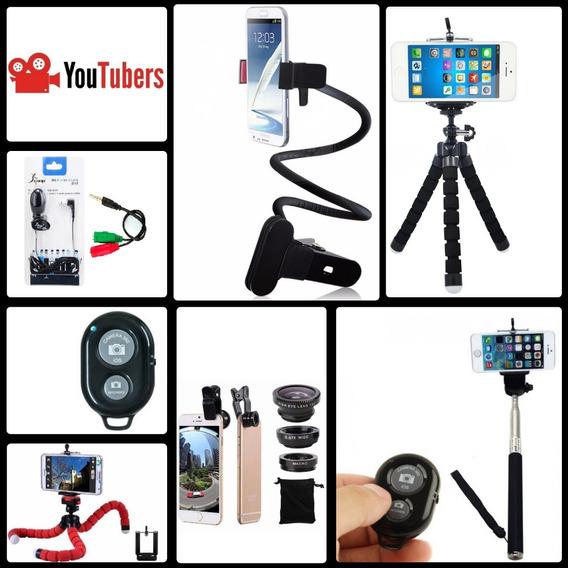 Kit Vlogger 7x1 iPhone, Galaxy, Sony, Xperia, Moto G, LG....