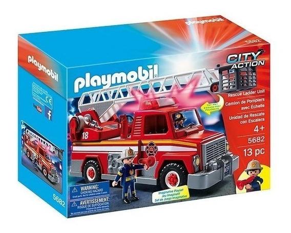 Playmobil Caminhão De Bombeiro Com Escada - 5980
