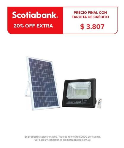 Foco Solar Led 200w C Sensor Patio Jardin Calles Exterio