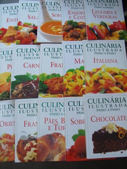 Culinária Ilustrada Passo A Passo 15 Volumes Em Ótimo Estado