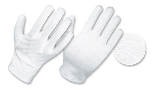Guantes En Algodon Blanco 10 Pares Absorben Sudor Dermatitis