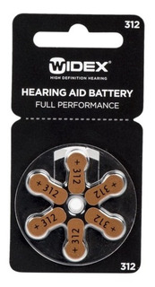 Pila Widex 312 - Blister Por 6 Unidades