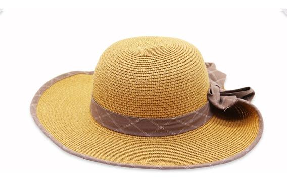 Sombrero Tipo Visera De Mujer Con Detalle De Ala Doblada.