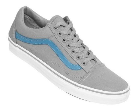 Venta > vans grises con azul > en stock