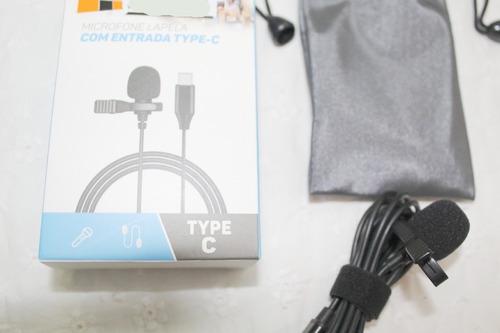 Imagem 1 de 6 de Microfone Celular Smartphone Youtuber Lapela Android Tipo C