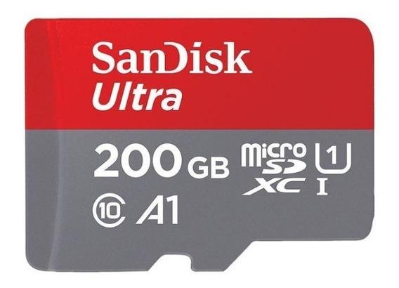 Cartão De Memória Micro Sd 200gb 100mb/s Sandisk Ultra