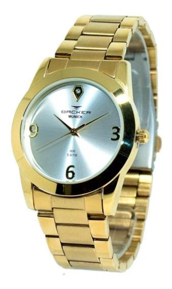 Relógio Feminino Backer Analógico 3992145f - Dourado
