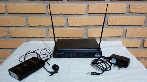 Microfone De Lapela Sem Fio Profissional Karsect Kru301 Uhf