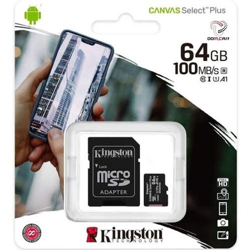 Imagen 1 de 1 de Tarjeta De Memoria Micro Sd 64gb. Kingston