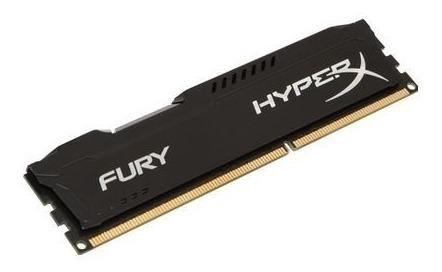 Memória Hyperx Fury 4gb 1600mhz Ddr3 Cl10 Black Series