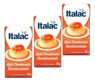 Kit Caixa 22 Leite Condensado Semidesnatad Italac 395g Cada