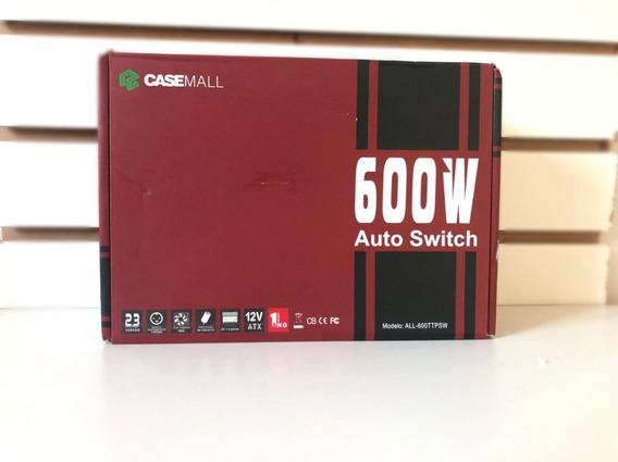 Fonte Casemall 600w Auto Switch