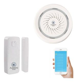 Kit Alarma Casa Wifi Tuyasmart Smart Life Puerta Sirena Casa Inteligente