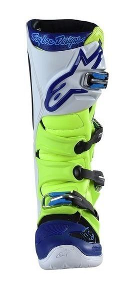 Botas Alpinestars Tech 7 Troy Lee Edition Fluo Blue Marelli