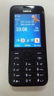 Celular Nokia 208 3g Dual Chip Preto -(vitrine) S/caixa.novo