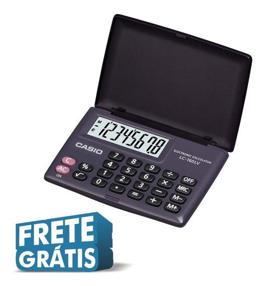 Calculadora De Bolso Casio Lc-160lv-bk 4 Operações Original