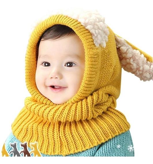 Gorro Para Frío Bebé Niño Calientito Suave Protector Térmico