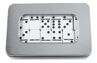 Domino Caja De Aluminio Lata 28 Piezas