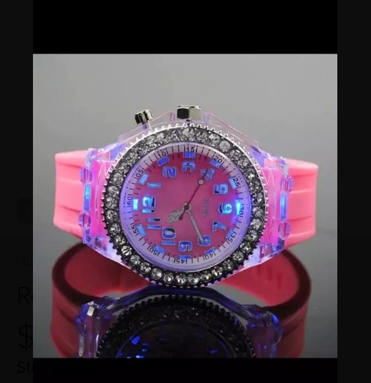 Reloj Geneva Luces Led Para Dama