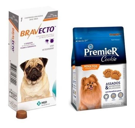 Bravecto Antipulgas Para Cães De 4,5 A 10kg + Biscoito