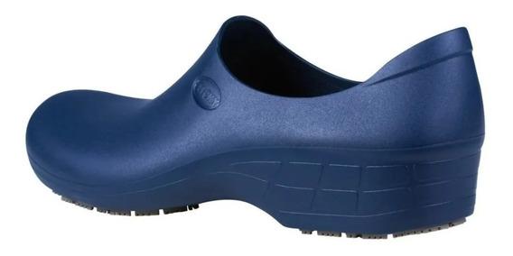 Sapato Antiderrapante Sticky Shoe Hospital/cozinha Nr32 Azul