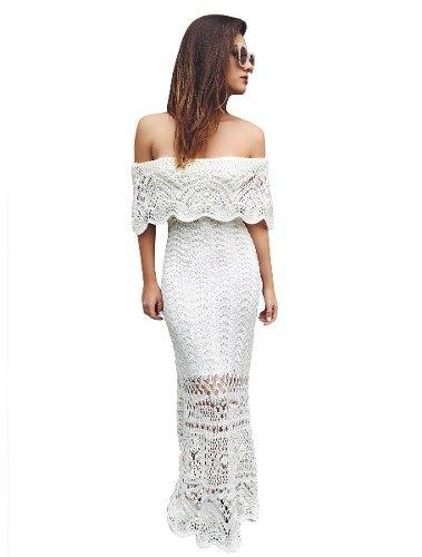 b54fb57b774a Vestido Longo Feminino De Tricot Crochê Ensaio Para Gestante - R$ 61 ...