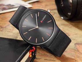 Relógio Curren 8256 Ultra Thin Drop Quartzo Luxo Masculino