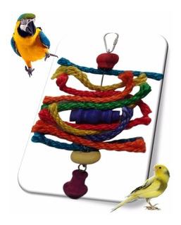 Juguete Cuerdas De Colores Para Loros, Periquitos Y Aves