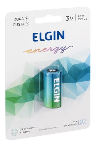 Imagem 1 de 6 de 01 Pilha Cr123a 3v Lithium Elgin - 01 Cartela Com 1 Unidade