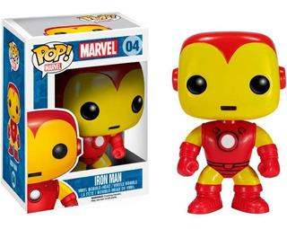 Iron Man #04 - Funko Pop Marvel Original - Caja Dañada