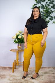 Conjunto Plus Size Blusa + Calça Roupas Femininas Gordinhas