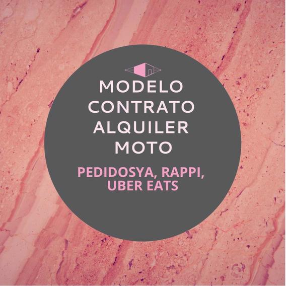 Modelo Contrato Alquiler Arrendamiento Moto Delivery Rappi