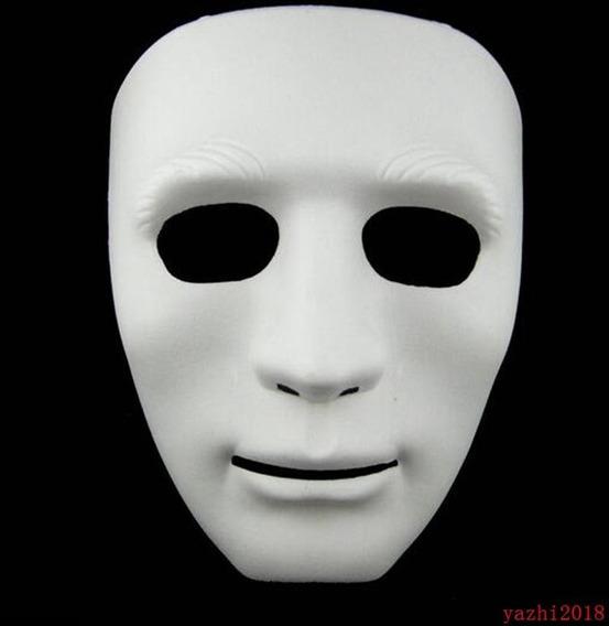 Máscara Rígida Pvc Halloween Carnaval Jabbawoockeez Blanca
